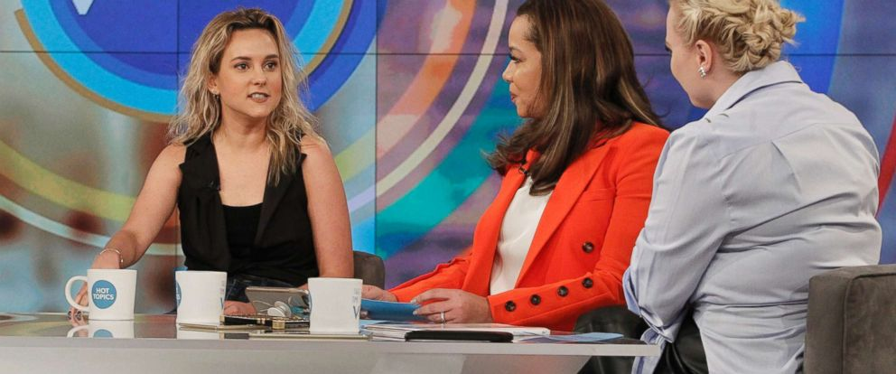 """PHOTO: From left, author and daughter of the Vice President, Charlotte Pence talks with ABCs Sunny Hostin and Meghan McCain on """"The View,"""" March 20. 2018."""