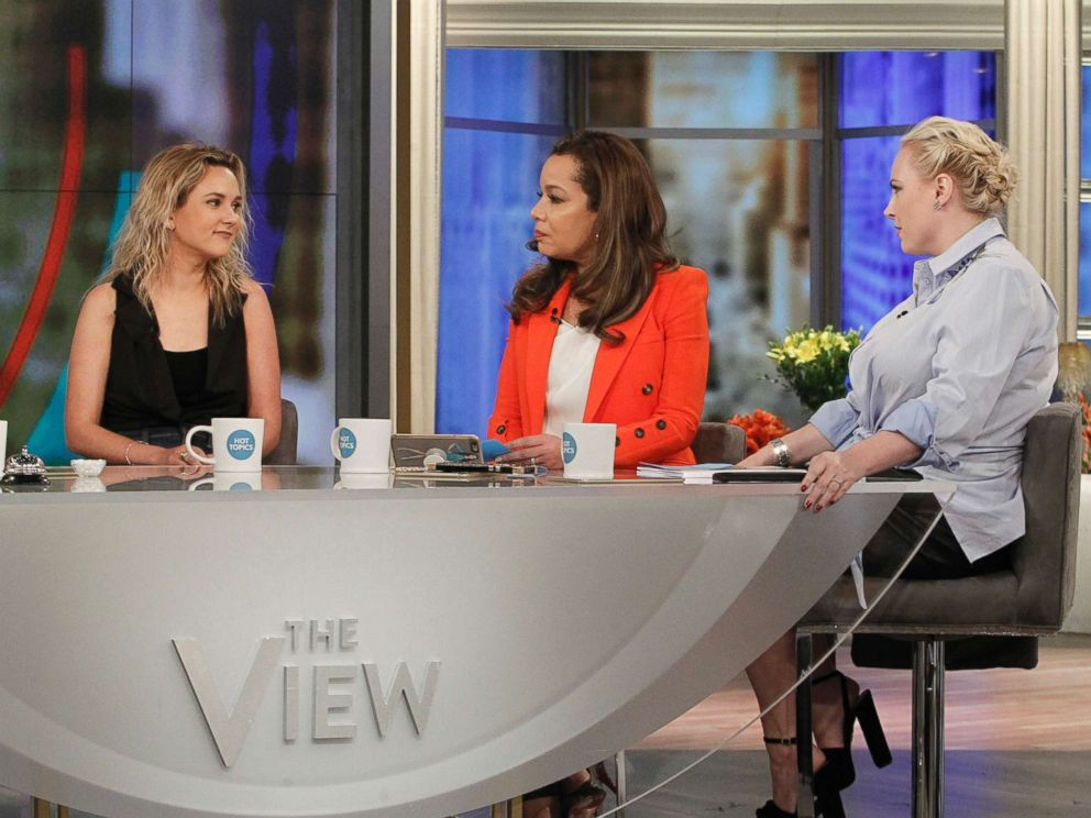 PHOTO: From left, author and daughter of the Vice President, Charlotte Pence talks with on ABCs Sunny Hostin and Meghan McCain on The View, March 20, 2018.