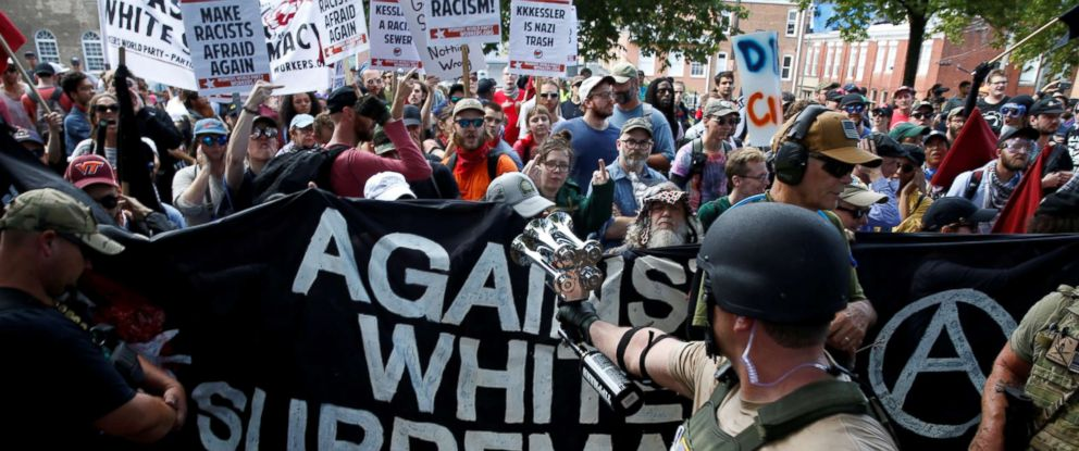 c8d91b85f68aa PHOTO  Members of white nationalists are met by a group of  counter-protesters in