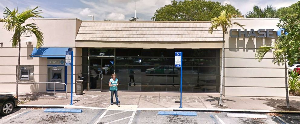 Chase Bank in Pembroke Pines, Fla., is pictured in this image from Google.