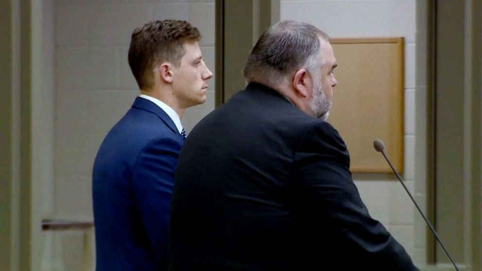FBI agent Chase Bishop, 29, makes his first appearance in the Denver courthouse after he was charged with second-degree assault, June 13, 2018.