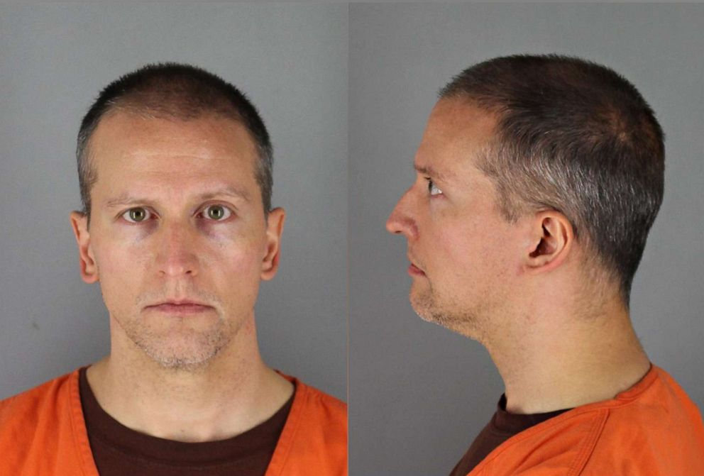 PHOTO: Former Minneapolis police officer Derek Chauvin is pictured in a booking photo released by the Hennepin County Jail.