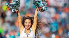 PHOTO: Miami Dolphins cheerleader Kristan Ware performs during a game against the Indianapolis Colts at Sun Life Stadium, Dec. 27, 2015, in Miami Gardens, Fla.