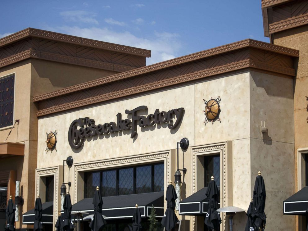 PHOTO: Signage for Cheesecake Factory Inc. is displayed outside of a restaurant, Aug. 1, 2017.