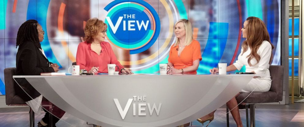 """PHOTO: Comedian Chelsea Handler opens up about what she learned in therapy on """"The View"""" with co-hosts Whoopi Goldberg, Joy Behar, and Sunny Hostin on Tuesday, April 9, 2019."""