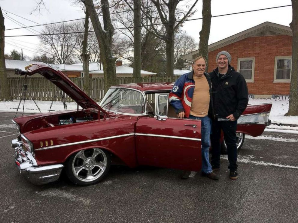 Man Surprises Grandfather With Restored 1957 Chevy Bel Air For His