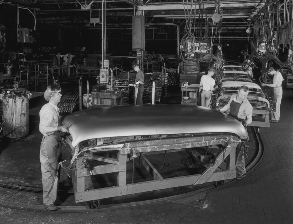PHOTO: The Indianapolis Chevy Plant, circa 1947, where Paul Hitch started his career with the company.