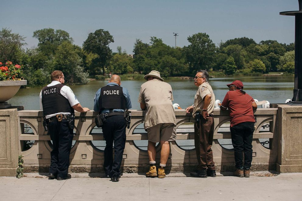 Department Animal Control and other state workers set out on a search in order to confirm the animal in the lagoon and warn the public in Chicago