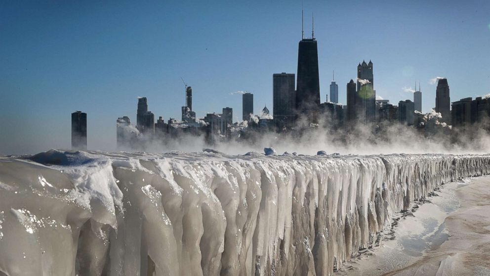 Image result for Polar Vortex's Dangerously Cold Winds Chicago will be as cold as the Arctic on