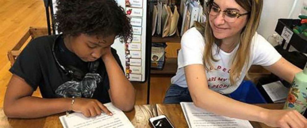 PHOTO: Auset Gordon, a fifth-grader, participates at Redwood Literacy. Kaitlin Feriante and her husband, Andre Feriante co-founded Redwood Literacy that opened June 2018.