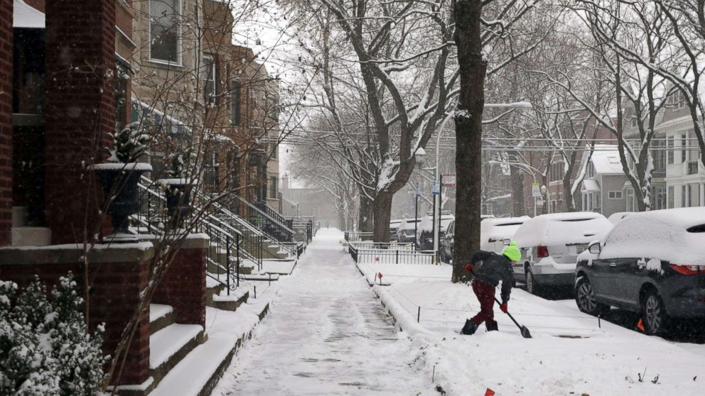winter weather delivers white christmas across us abc news. Black Bedroom Furniture Sets. Home Design Ideas