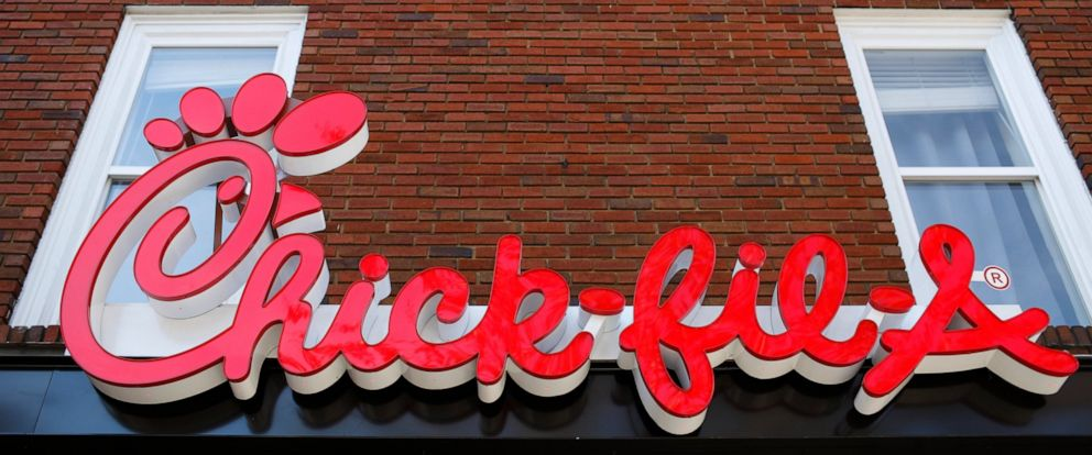 PHOTO: In this Oct. 30, 2018 file photo, Athens newest Chick-fil-A signage is set to open in downtown, Athens, Ga.