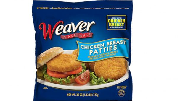 Tyson Foods recalls 39,000 pounds of frozen chicken patties possibly contaminated with 'foreign matter'