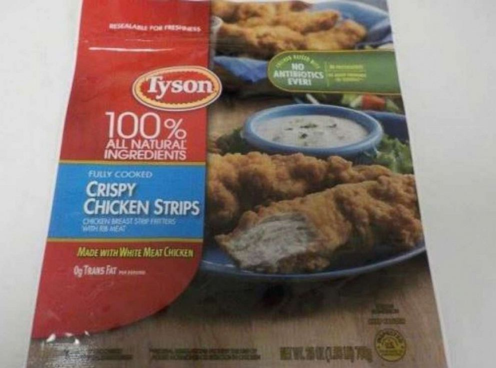 PHOTO: Tyson Foods is recalling approximately 69,093 pounds of frozen chicken strips over possible metal contamination.