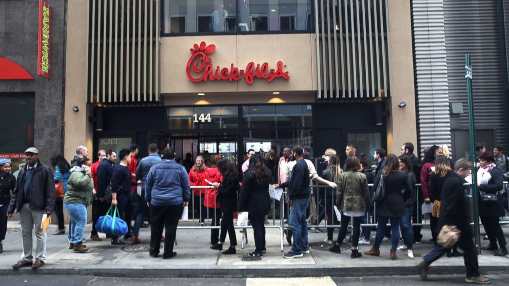 A new Chick-fil-A opened on Fulton Street in New York, March 30, 2018.