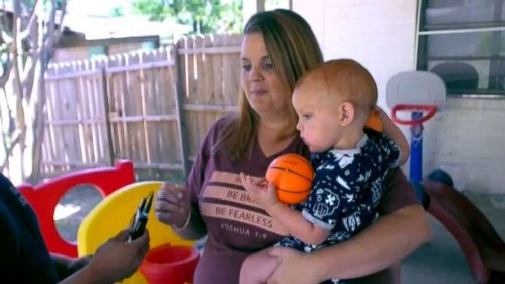 Tanah Zuniga's 17-month-old son nearly drowned after falling into their backyard pool.
