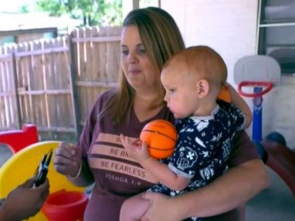 Tanah Zunigas 17-month-old son nearly drowned after falling into their backyard pool.