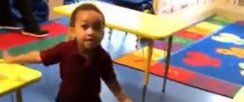 PHOTO: A father filmed his sons excitement at being picked up from preschool every day for a month.