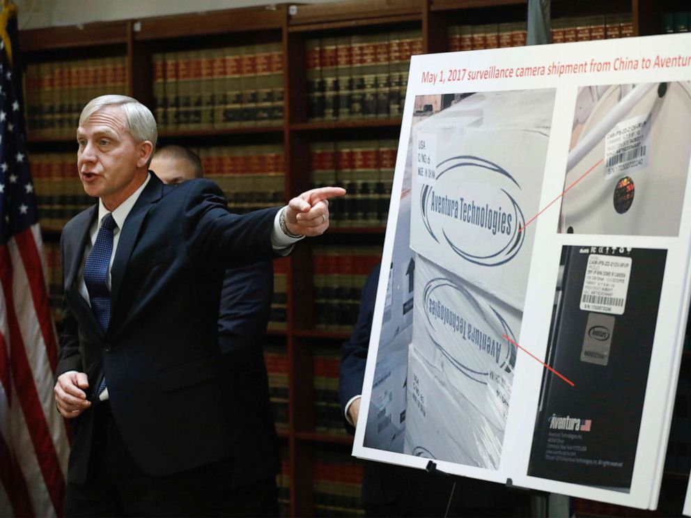 PHOTO: U.S. Attorney Richard P. Donoghue announces charges against Aventura Technologies, Nov. 7, 2019, in Brooklyn, New York.