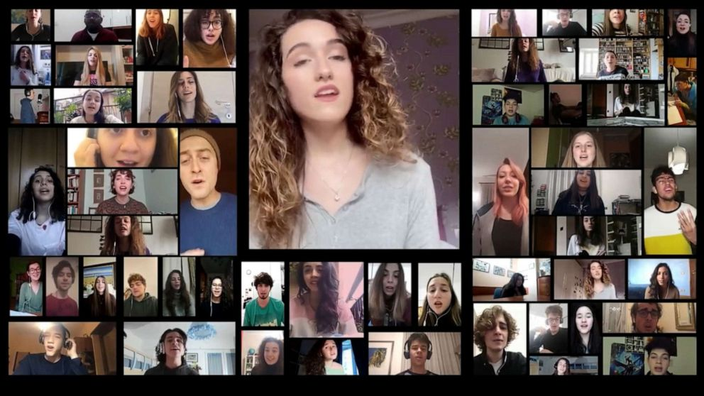 Italian choir sings famous Crosby, Stills & Nash song ...