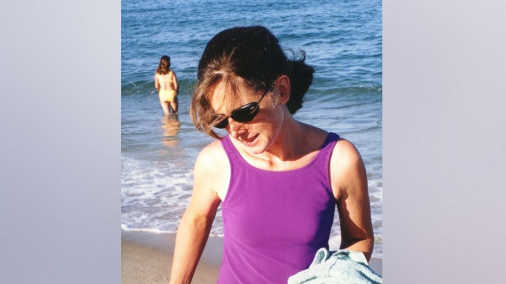 Fashion writer Christa Worthington at Ballston Beach in Truro, Mass., in August 2001.