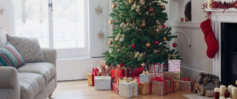 PHOTO: Christmas tree surrounded with gifts is seen in this undated stock photo.