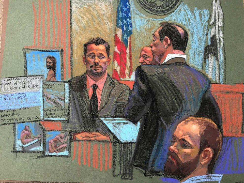 PHOTO: FBI forensic examiner William O'Sullivan testifies about Brendt Christensen online search activity. June 17, 2019.