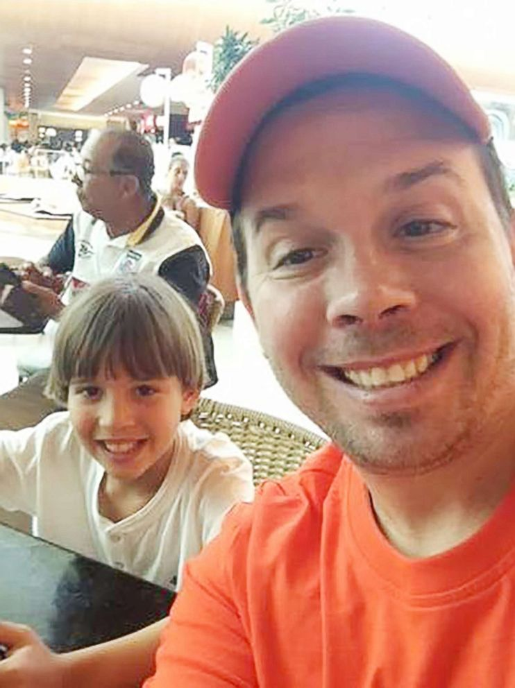PHOTO: Christopher Brann and his son Nicolas are seen in an undated photograph. Court documents say that in July 2013, Nicolas went to Brazil with his mother for a wedding and has not returned to the US since then.
