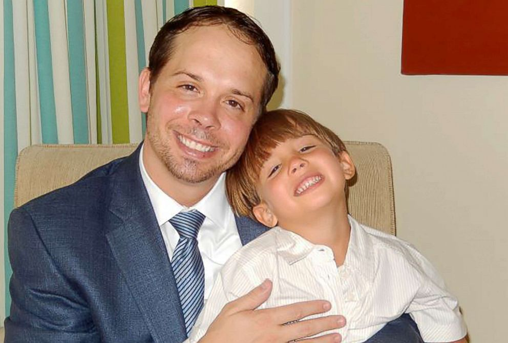 PHOTO: Christopher Brann and his son Nicolas are pictured in an undated photograph. According to a criminal complaint, Branns ex-wife Marcelle Guimaraes has allegedly kept Nicolas in her native Brazil for five years and away from his father.