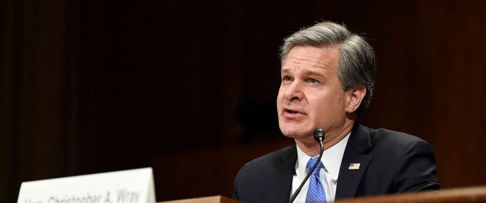 PHOTO: FBI Director Christopher Wray testifies before the Senate Judiciary Committee on Capitol Hill in Washington, July 23, 2019.