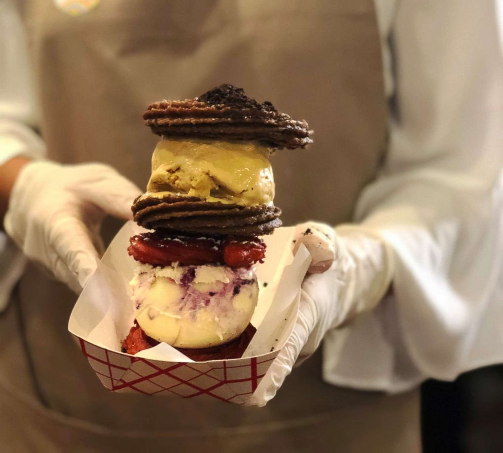 PHOTO: Dulcinea serves a Red Velvet Churro Ice Cream Sandwich and an Oreo Churro Ice Cream Sandwich.