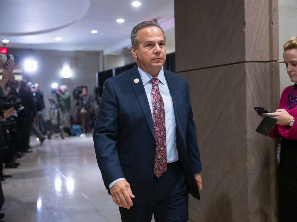 PHOTO: Rep. David Cicilline, D-R.I., leaves the House Democratic Caucus leadership elections at the Capitol, Nov. 28, 2018.