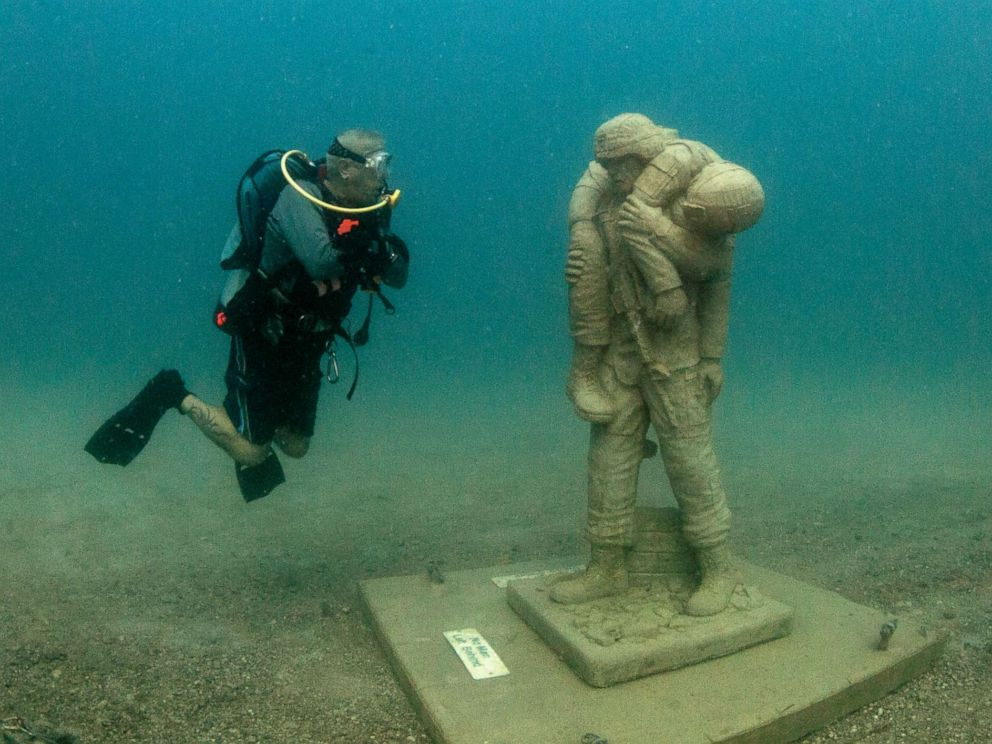 PHOTO: The nations first-of-its-kind underwater dive memorial honoring American veterans opened in Clearwater, Fla., Aug. 5, 2019.