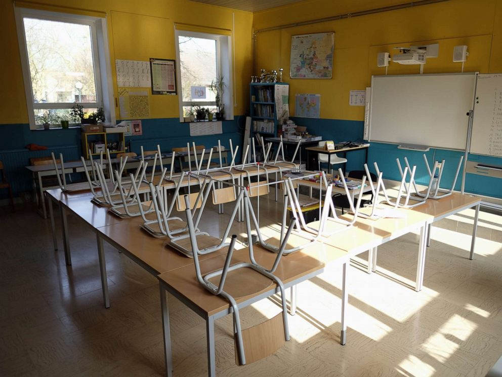 Image result for remote schooling united states empty classroom