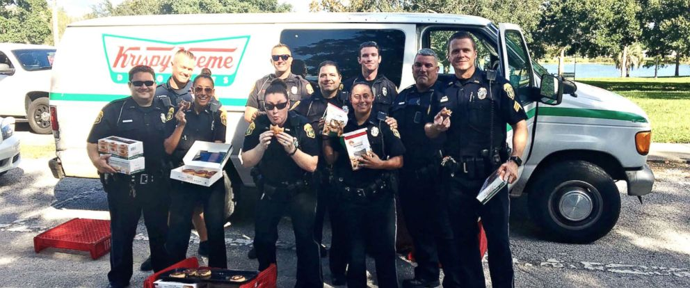 PHOTO: Police pose with recovered donuts in this undated photo released by Clearwater Police Department in Florida.