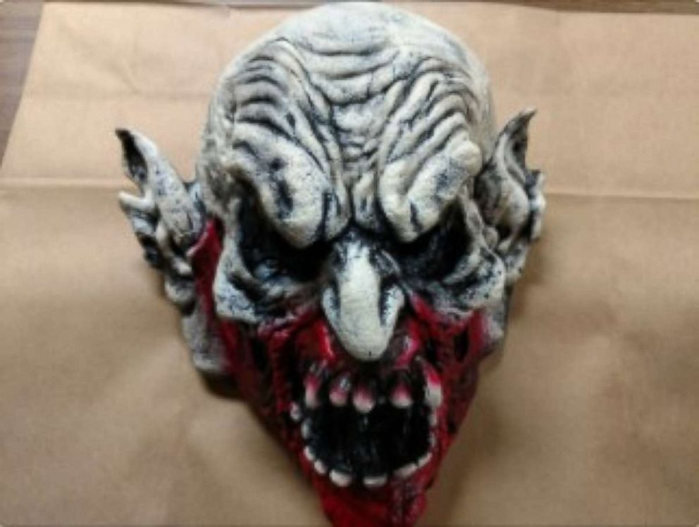 Holly Hill Police Department provided a photo of the mask being worn by a suspect who was shot and killed outside a Little Caesars in Florida on Saturday, May 26, 2018.
