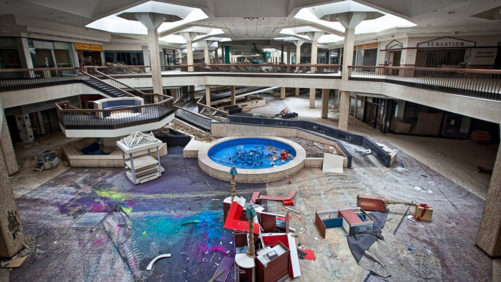 See Inside Vast Abandoned Mall Photos Abc News