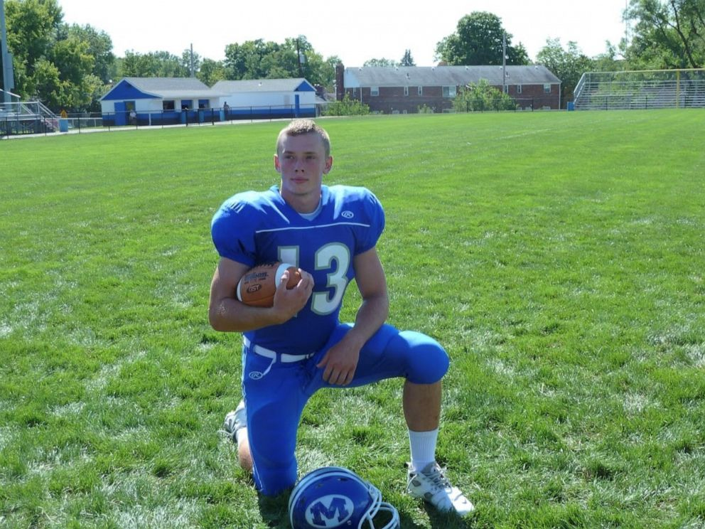 PHOTO: Cody Hamblin, of Miamisburg, Ohio, died after suffering a seizure while fishing in May 2016. His family has sued Riddell, the football equipment manufacturer, after discovering the 22-year-old suffered from brain damage due to football.