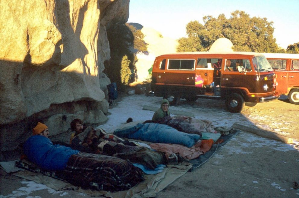 PHOTO: Roger, Mike and Robert Coffman at Joshua Tree Hidden Valley Campground in California in 1979, the first year of the Coffmans New Years Eve tradition.