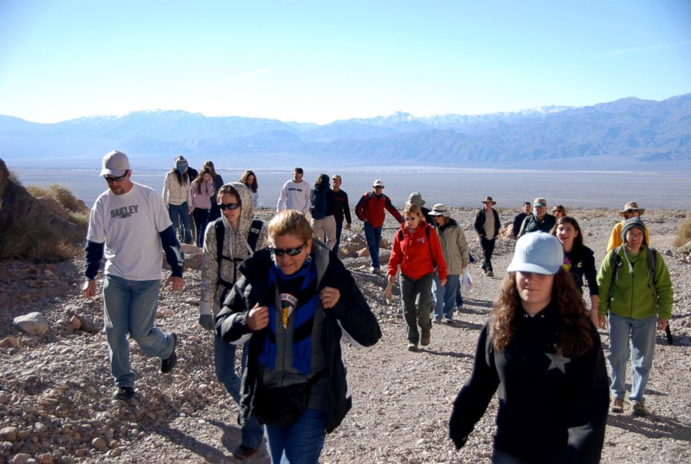 PHOTO: The 30th Joshua Tree trip at Death Valley National Park in 2008. Two generations of family hiking Titus Canyon. A total of 33 family members attended this year, Dennis Coffman said.