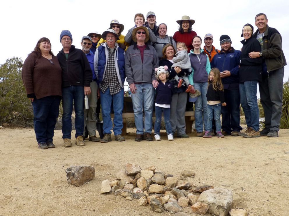 PHOTO: Three generations of Coffmans pose for a photo at the 37th Joshua Tree tradition at Joshua Tree National Park in 2015.