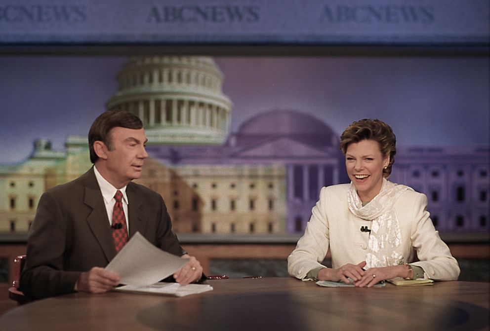 PHOTO: Sam Donaldson and Cokie Roberts anchor This Week on ABC, Jan. 23, 1997.