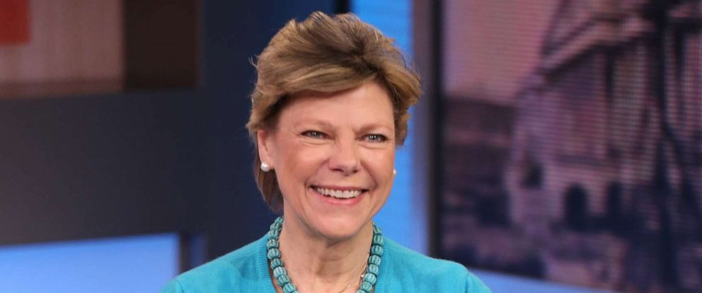 "PHOTO: Cokie Roberts talks about her book, ""Capital Dames"" on ""Good Morning America,"" on April 14, 2015."