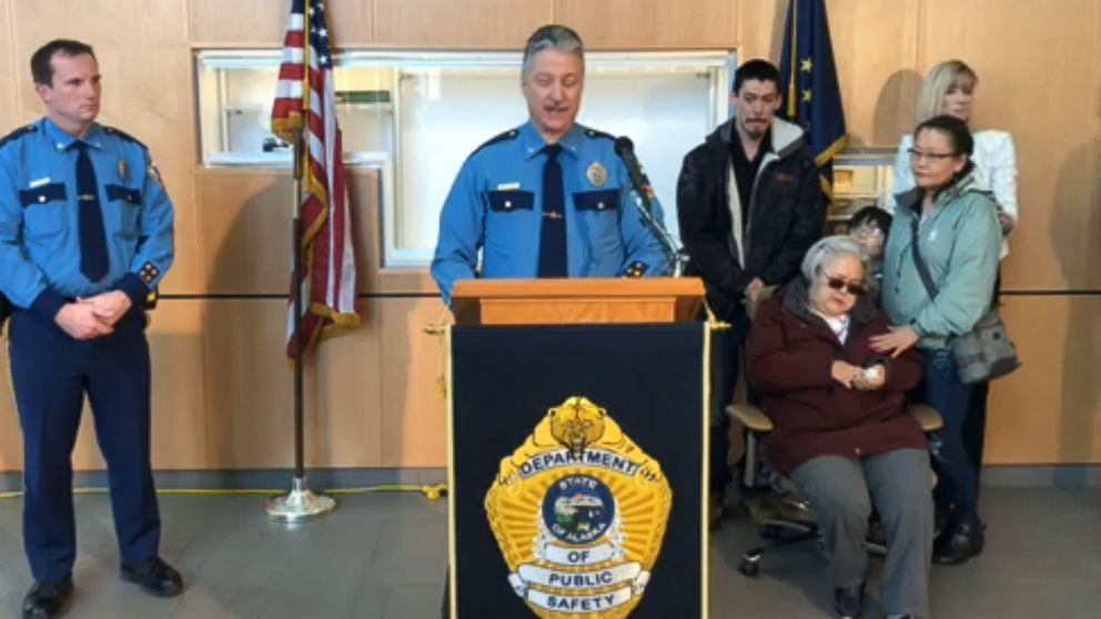Col. Barry Wilson of the Alaska State Troopers speaks at a press conference to announce an arrest in the 1993 cold case murder of 20-year-old Sophie Sergie, Feb. 15, 2019.