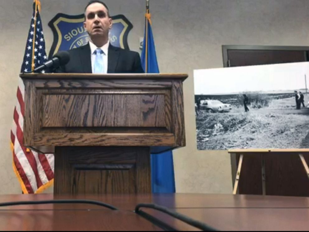 PHOTO: New DNA technology led to a womans arrest for murder, March 8, 2019, for allegedly leaving her newborn baby in a ditch 38 years ago, police said. A newborn baby boy was found dead on Feb. 28, 1981 in Sioux Falls.