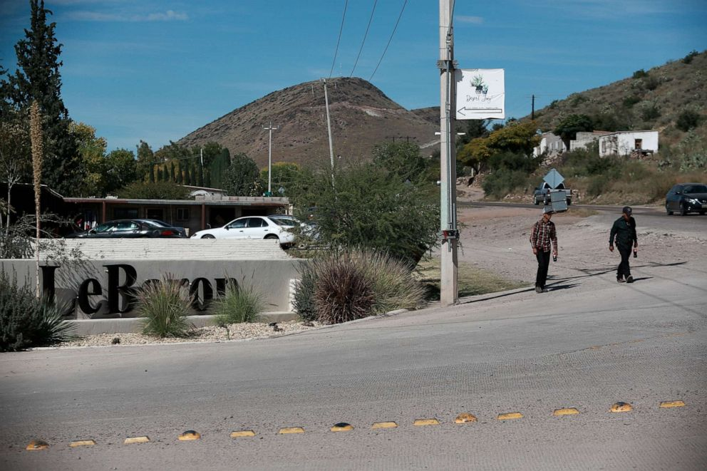 PHOTO: A sign announces the entry to Colonia LeBaron, one of many locations where the extended LeBaron family lives in the Galeana municipality of Chihuahua state, Mexico, Tuesday, Nov. 5, 2019.