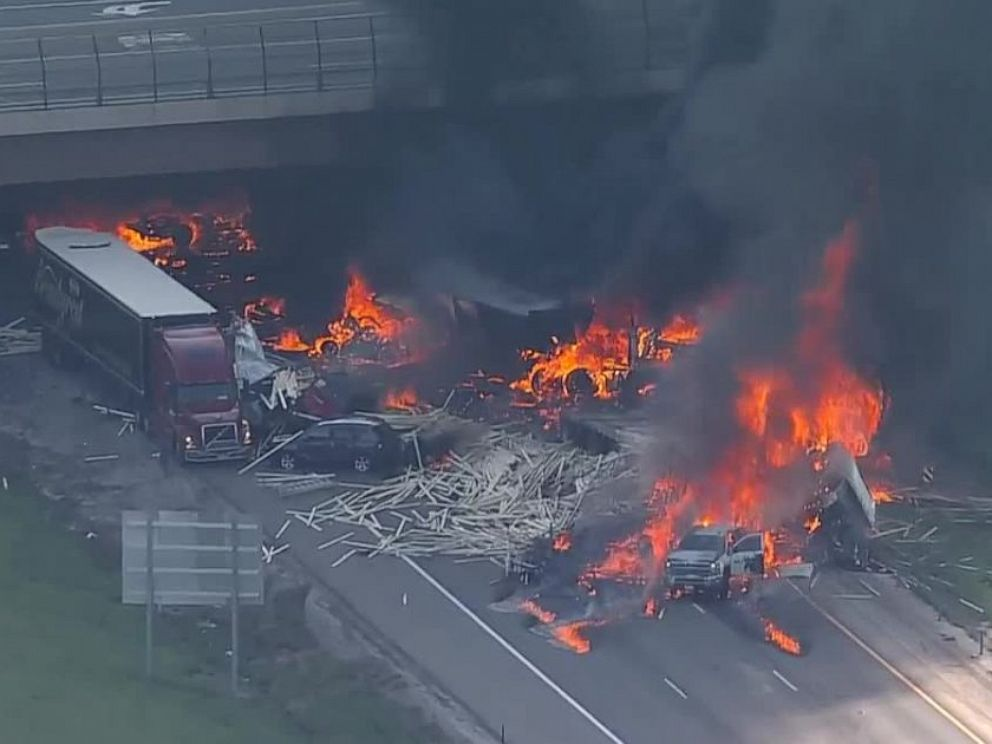 PHOTO: Authorities said there were multiple fatalities in an 11-car, four-semi crash on Interstate 70 in Denver, Colo., on Thursday, April 25, 2019.