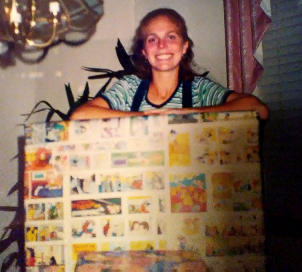 PHOTO: Michelle Porter, now 37, seen on her 18th birthday in October 1998 holding a gift that would be a CD player.