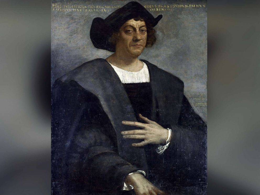 PHOTO: A 16th century portrait of Christopher Columbus in the Metropolitan Museum of Art, New York City.