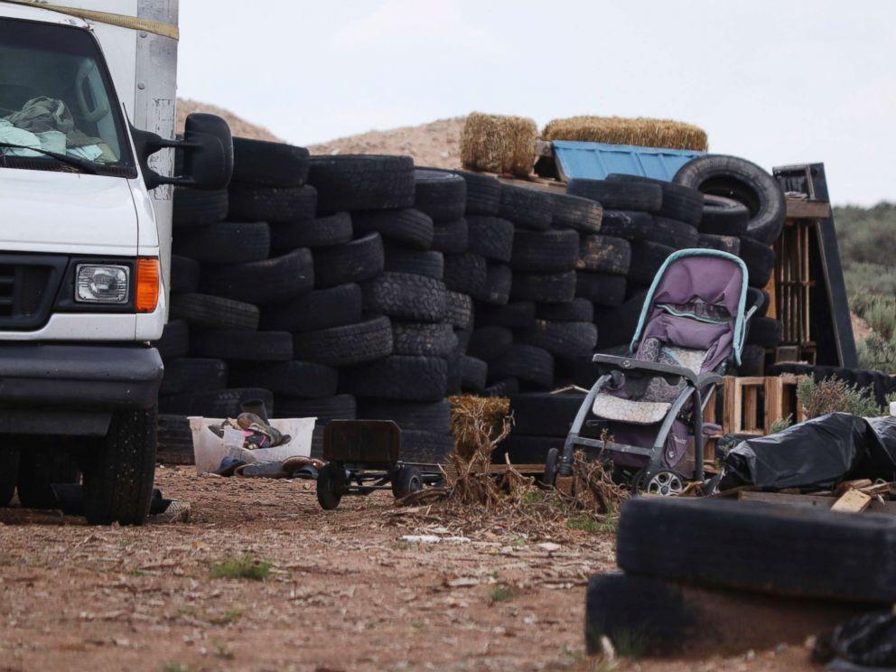 PHOTO: Debris outside the location where people camped near Amalia, N.M., Aug. 5, 2018.